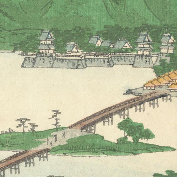 Suma River, Higo Province, 1862 by Hiroshige II (1826 - 1869)
