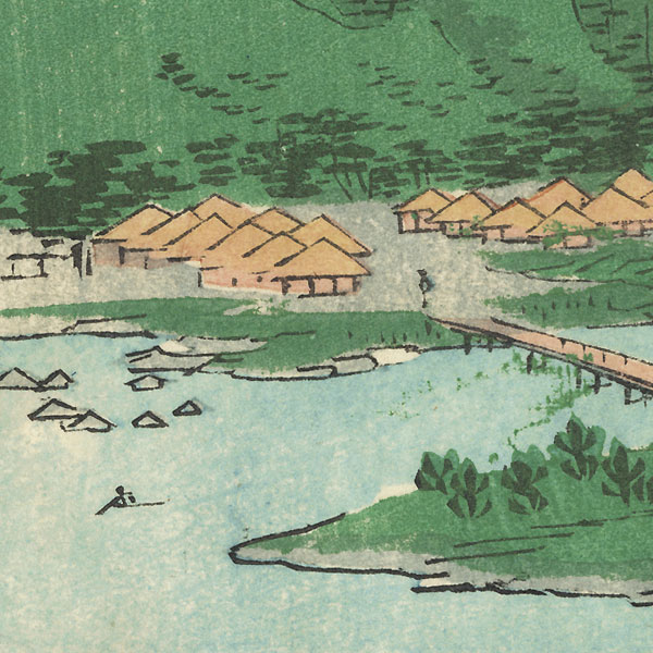 Nabari, Iga Province, 1862 by Hiroshige II (1826 - 1869)