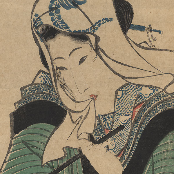 Beauty with a Lantern Kakemono by Eizan (1787 - 1867)