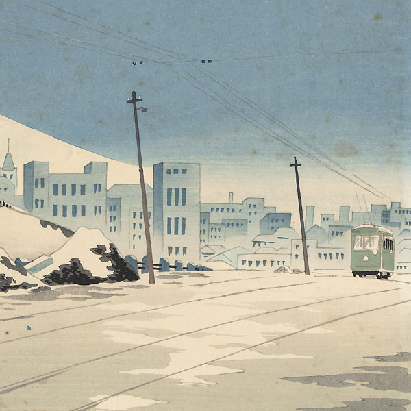 Fine Weather after the Storm in Tokyo Ochanomizu by Tokuriki (1902 - 1999)