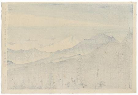 Distant View of Fuji from Shinshu Kiyosato Station by Tokuriki (1902 - 1999)