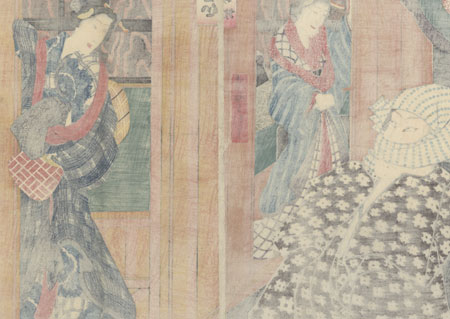 Visiting a Courtesan, 1857 by Toyokuni III/Kunisada (1786 - 1864)