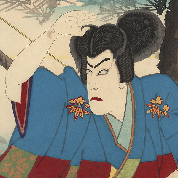 Ichikawa Danjuro IX as Tametomo, 1888 by Meiji era artist (not read)