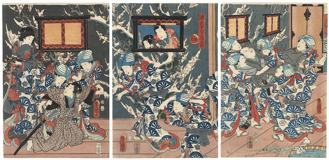 The Twelfth Month, 1857 by Toyokuni III/Kunisada (1786 - 1864)