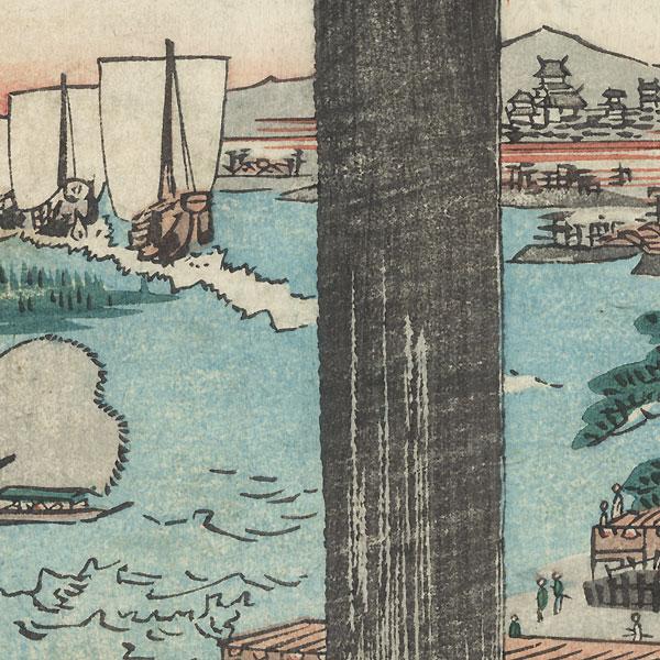 Tenpo Hill, 1860 by Yoshiyuki (1835 - 1879)