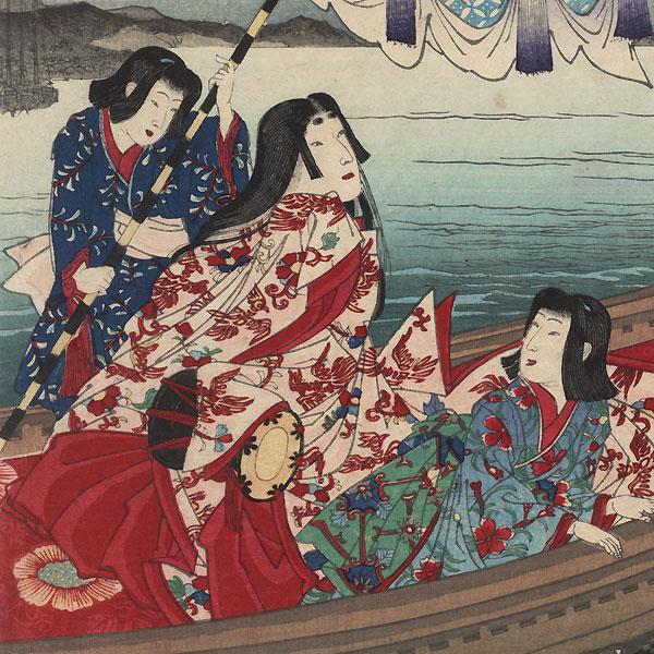 Muronotsu Courtesan, No. 8 by Chikanobu (1838 - 1912)