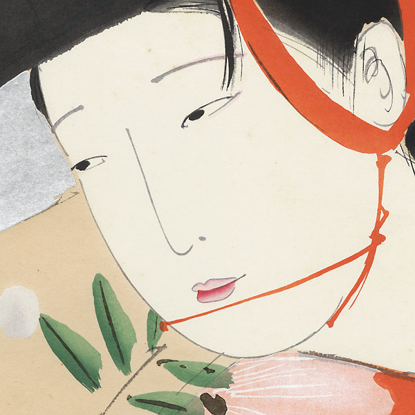 The Wisteria Maiden, 1959 by Tsunetomi Kitano (1880 - 1947)