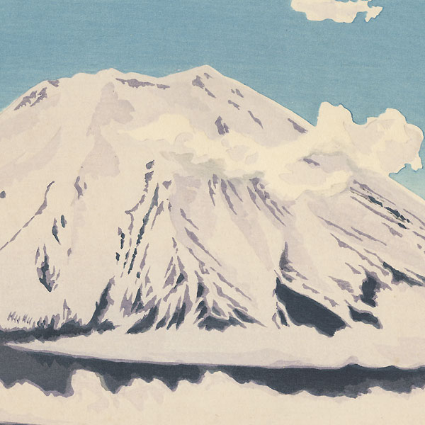 Fuji in Snow by Tokuriki (1902 - 1999)
