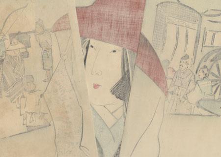 Lady Sei Shonagon, 1896 by Kiyochika (1847 - 1915)