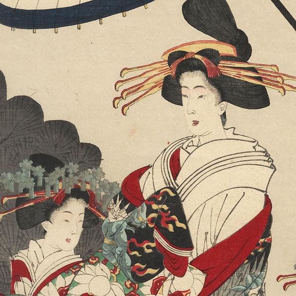 The Story of the Courtesan Jigokudayu and Priest Ikkyu, 1886 by Yoshitoshi (1839 - 1892)