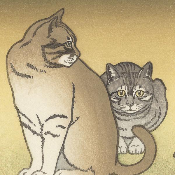 Cats by Toshi Yoshida (1911 - 1995)