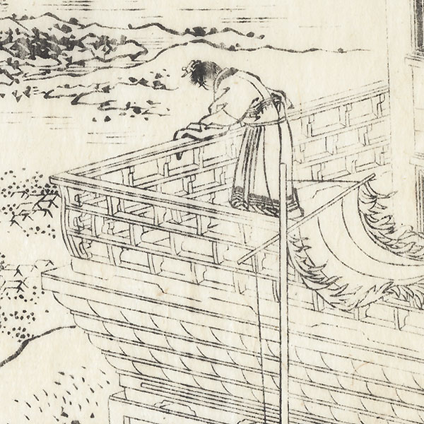 Looking over a Palace Verandah, 1833 by Hokusai (1760 - 1849)