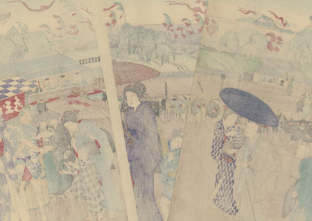 Seventh Month: Tanabata Festival at Sujikai Mitsuke Crossroads, 1889 by Chikanobu (1838 - 1912)