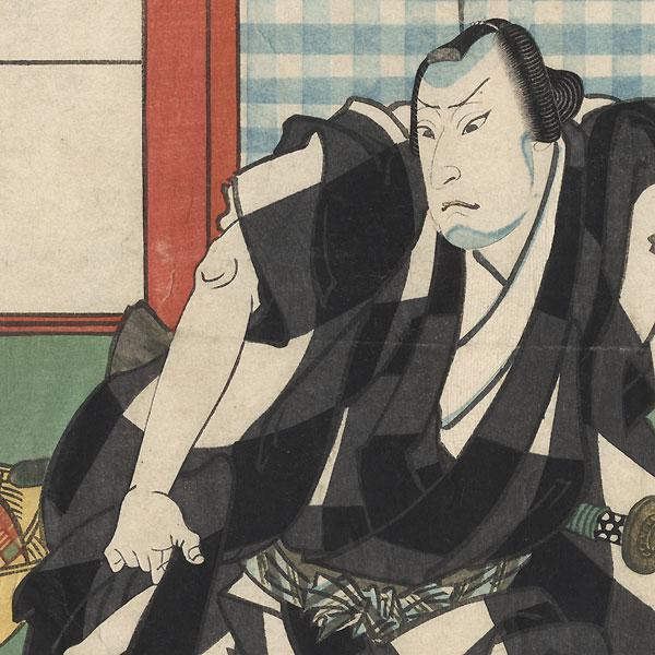 Actor as Tokubei by Sadanobu I (1809 - 1879)