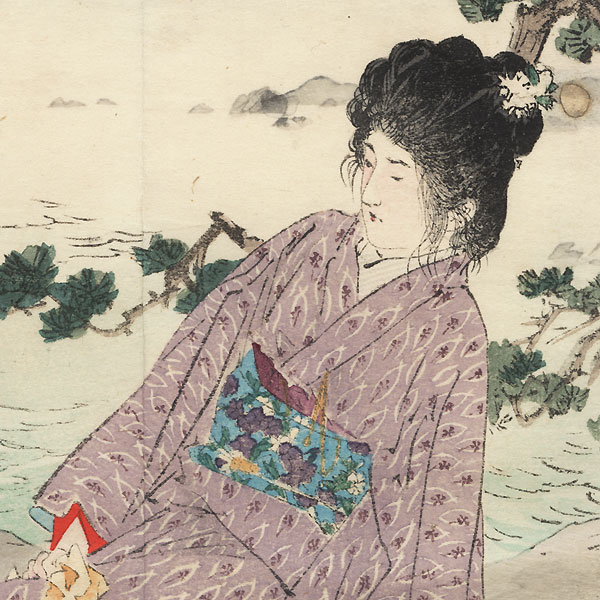 The Dairy Sisters Kuchi-e Print, 1905 by Kiyokata Kaburagi (1886 - 1972)
