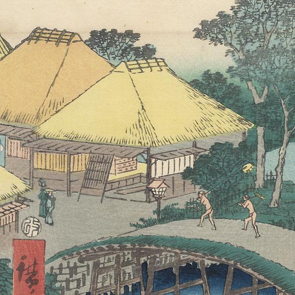 Nako Bay and the Mie River at Yokkaichi, 1855 by Hiroshige (1797 - 1858)