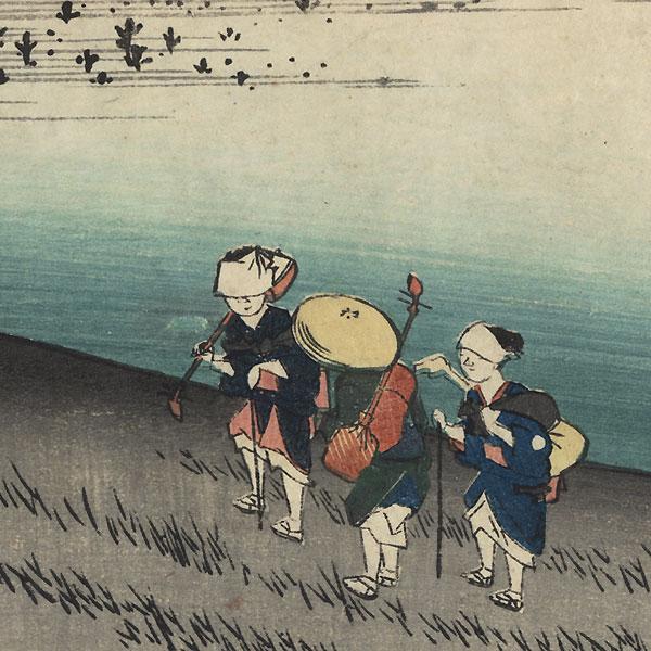 The Sarugababa Resthouse near Futagawa, circa 1833 - 1834 by Hiroshige (1797 - 1858)