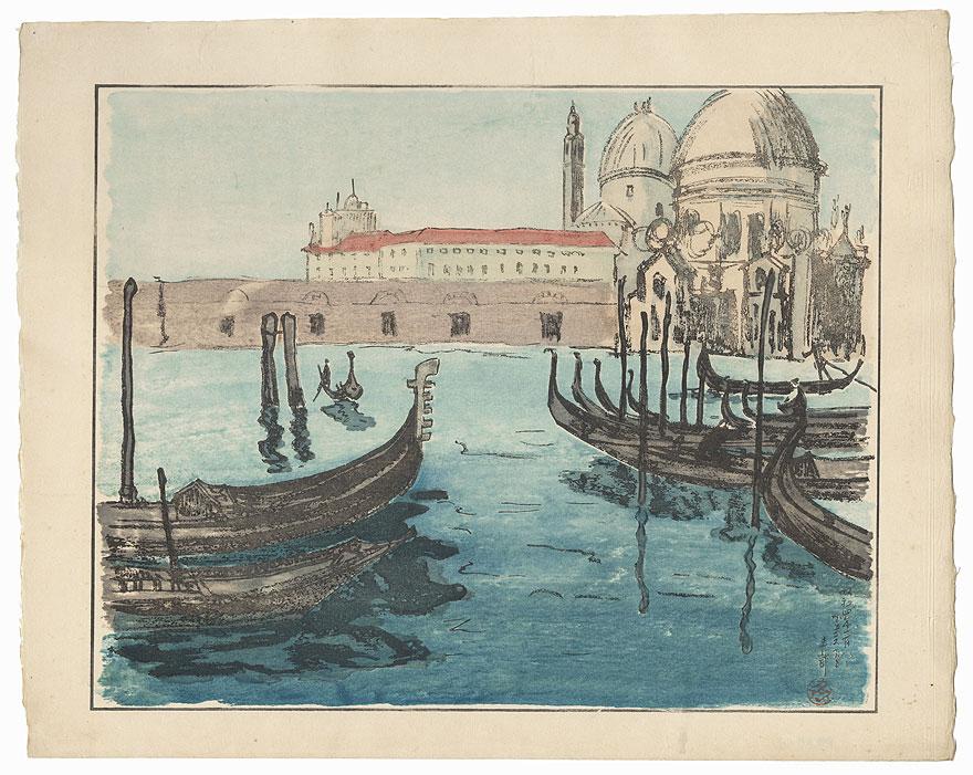 View of Venice by Kazue Yamagishi (1833 - 1966)