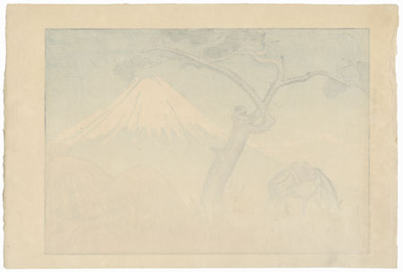 Fuji from Yoshiwara, 1936 by Goro Tsuruta (1890 - 1969)