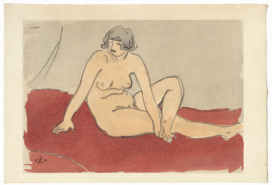 Female Nude, 1936 by Mitsutani Kunishiro (1874 - 1936)