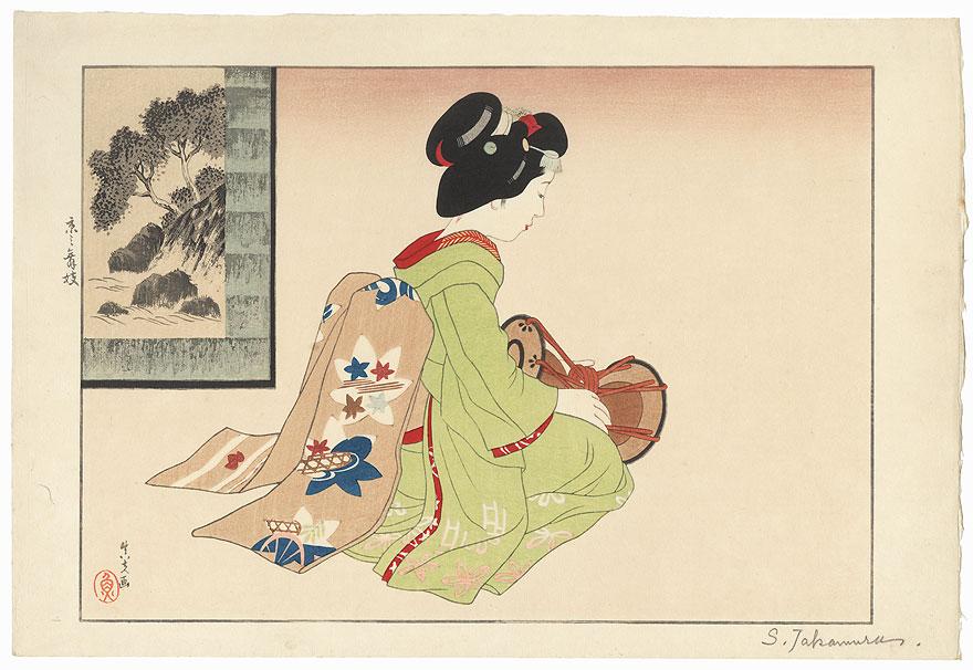 Kyoto Maiko, 1936 by Shinpu Takamura (1876 - 1953)