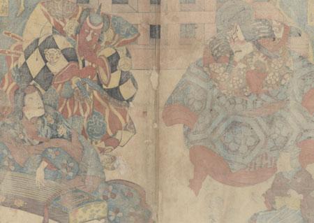 Taira no Kagekiyo, 1849 by Kuniyoshi (1797 - 1861)