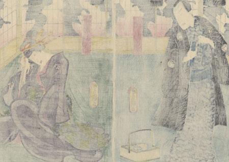 Scene from Ise Ondo, 1858 by Toyokuni III/Kunisada (1786 - 1864)