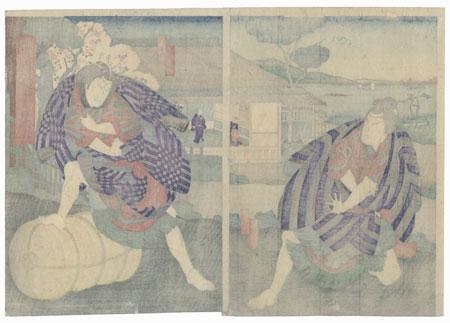 Scene from Sugawara Denju Tenarai Kagami, 1869 by Yoshitaki (1841 - 1899)