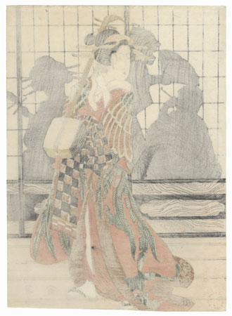 Courtesan with a Shamisen by Eizan (1787 - 1867)