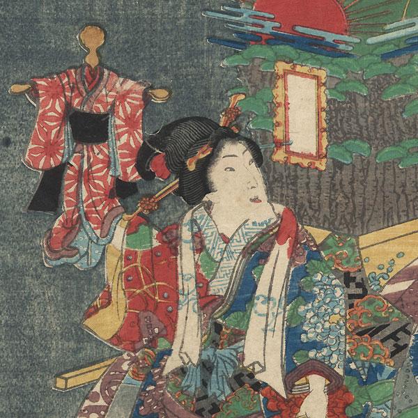 Tamakazura, Chapter 22 by Kunisada II (1823 - 1880)