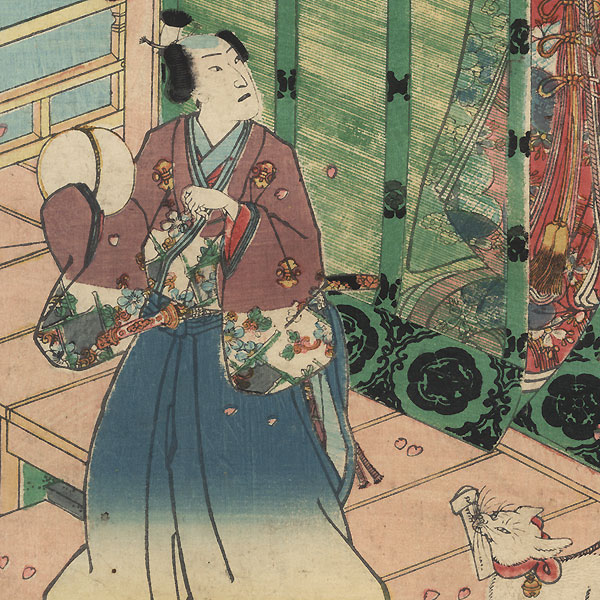 Kashiwagi, Chapter 36 by Kunisada II (1823 - 1880)