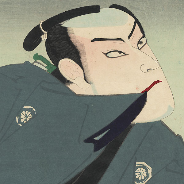 Onoe Kikugoro V as Genzo and as Ichikawa Danjuro as Matsuomaru by Kunichika (1835 - 1900)
