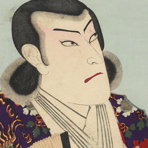 Onoe Kikugoro V as a Nobleman and as Bando Hikosaburo V as Ooka Echizen-no-kami by Kunichika (1835 - 1900)