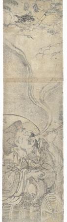 Daikoku and Dream with White Rats Pillar Print by Koryusai (1735 - 1790)