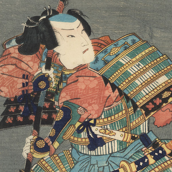 Otani Tomoemon as Miura no Suke, 1865 by Kunichika (1835 - 1900)