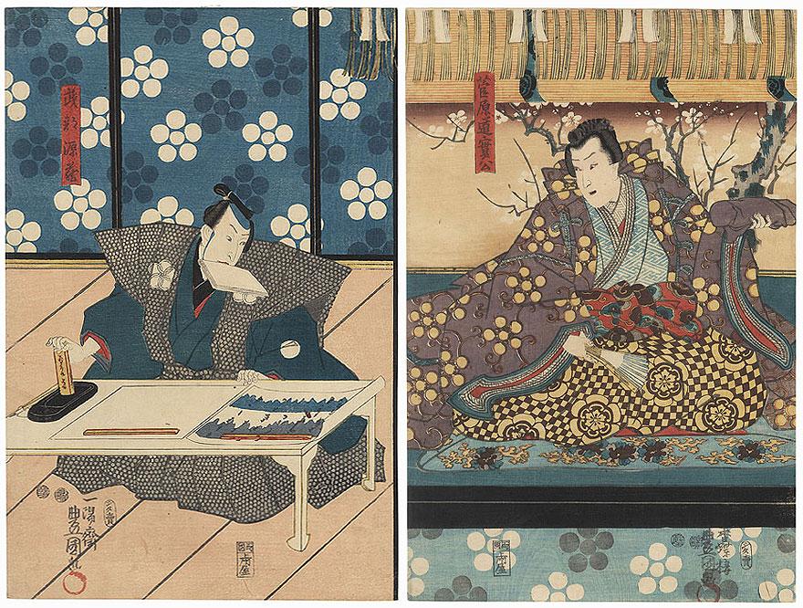 Scene from Sugawara Denju Tenarai Kagami, 1850 by Toyokuni III/Kunisada (1786 - 1864)