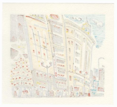 Cityscape by Hisao Someya (born 1935)