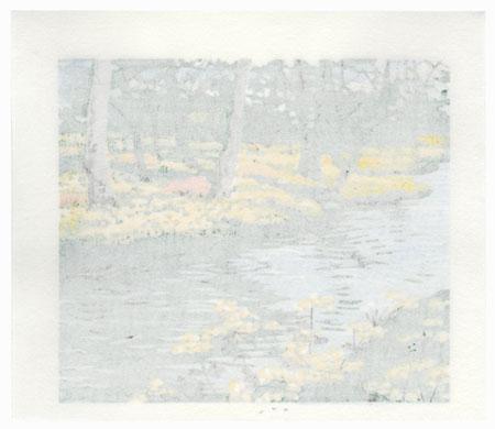 River and Blossoms, 2000 by Masaya Watabe (born 1931)