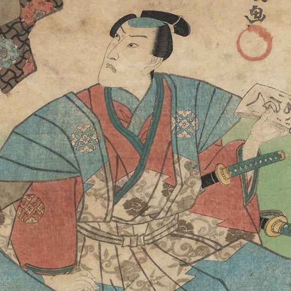 Daini no Sanmi, Poet No. 58 by Toyokuni III/Kunisada (1786 - 1864)