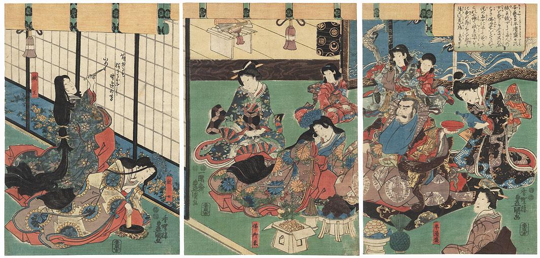 Beauty Writing a Farewell Verse, 1847 - 1852 by Toyokuni III/Kunisada (1786 - 1864)