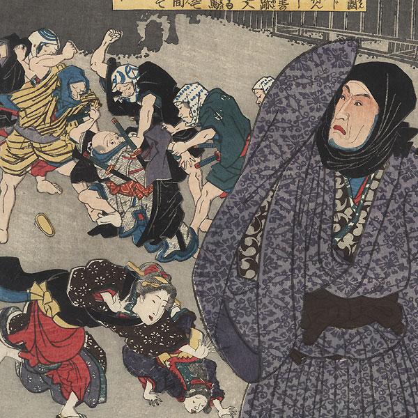 No. 19, Matsumoto Koshiro IV as Oboshi Yuranosuke, 1847 - 1852 by Toyokuni III/Kunisada (1786 - 1864)