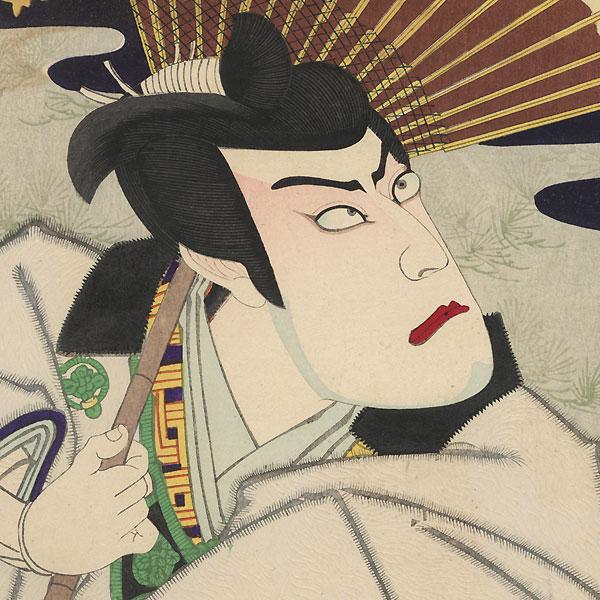 Ichikawa Danjuro IX as Asayama Tetsuzan by Kunichika (1835 - 1900)