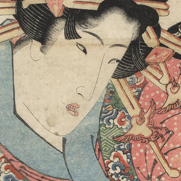 A Geisha from the Eastern Capital by Eisen (1790 - 1848)
