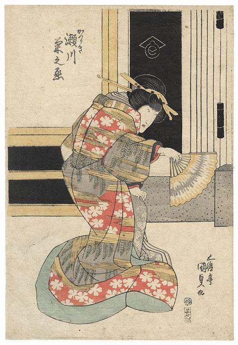 Segawa Kikunojo as Katsuraki, 1825 by Toyokuni III/Kunisada (1786 - 1864)