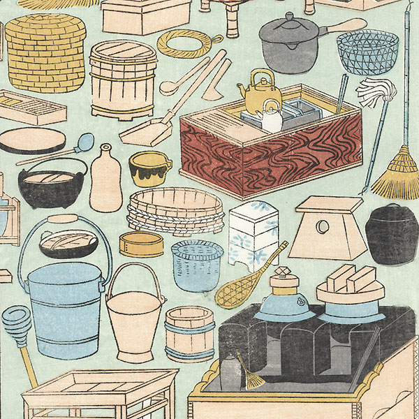Household Items Toy Print by Meiji era artist (unsigned)