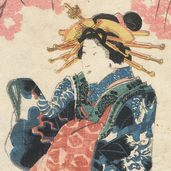 Courtesan in a Dragon Kimono by Edo era artist (not read)