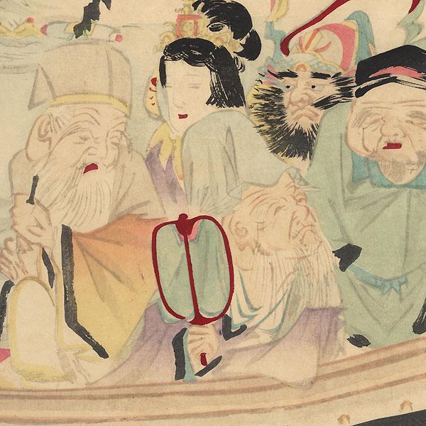 Seven Lucky Gods in a Boat, 1882 by Iijima Koga (1829 - 1900)