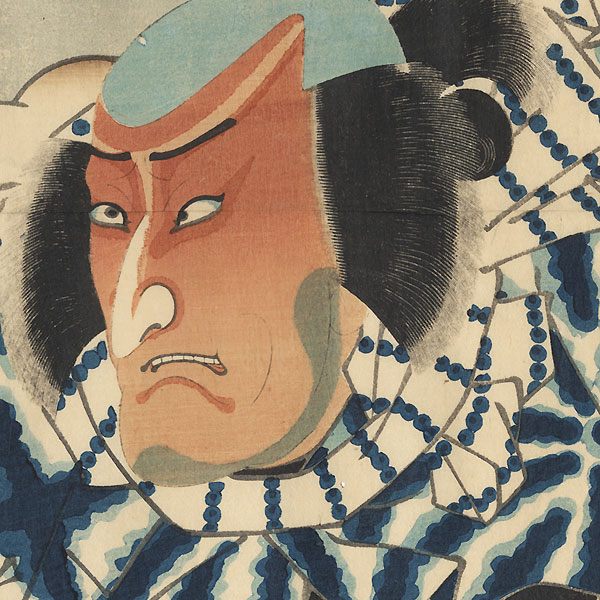 Sakanoshita: Matsumoto Koshiro VI as Jirozo by Toyokuni III/Kunisada (1786 - 1864)