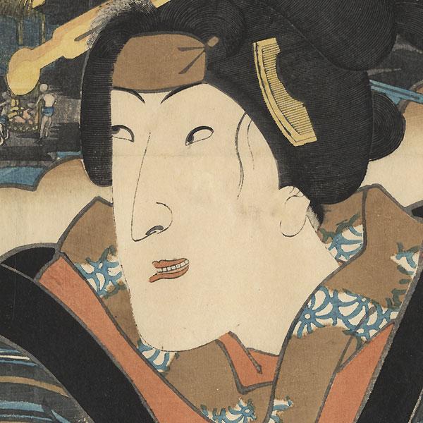 Mishima: Segawa Kikunojo V as Osen by Toyokuni III/Kunisada (1786 - 1864)