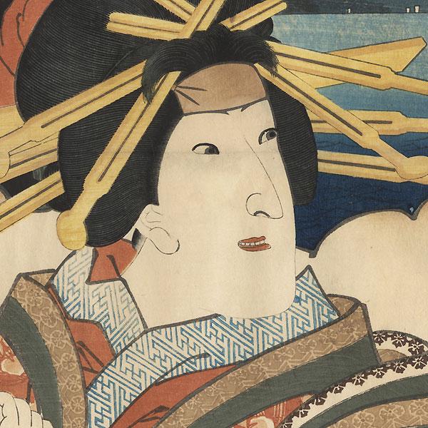 Arai: Iwai Kumesaburo III as Kojoro by Toyokuni III/Kunisada (1786 - 1864)